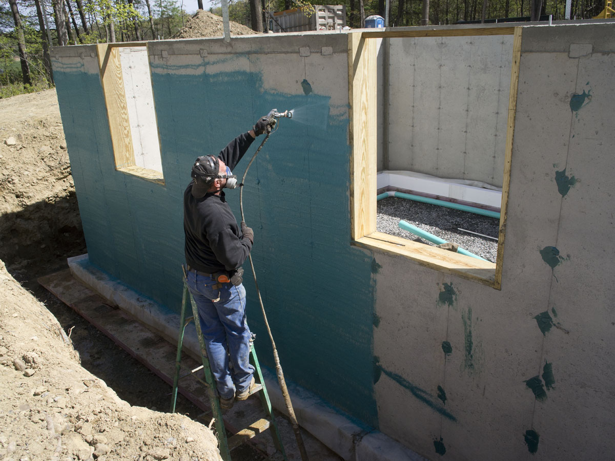 Foundation new hudson valley for Waterproof sealant for exterior walls