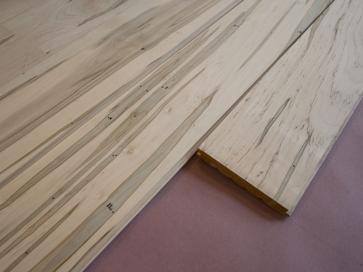 Trailer Wood Flooring wormy maple | New Hudson Valley