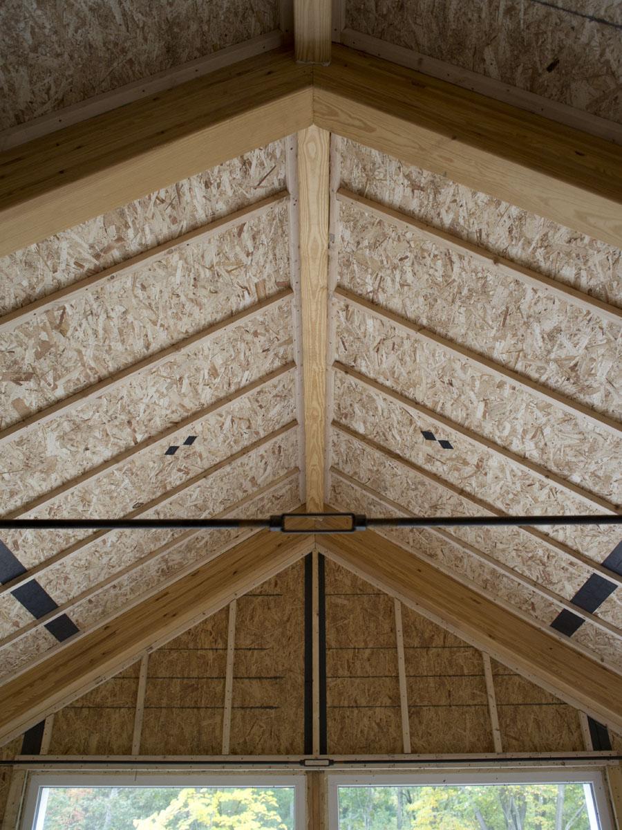 Furring strips on ceiling for Diy sip panels